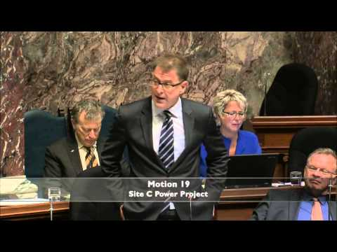 Speech in Opposition to Liberal government's Site C Dam Motion