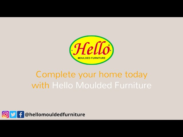 Complete your HOme today with Hello Moulded Furniture