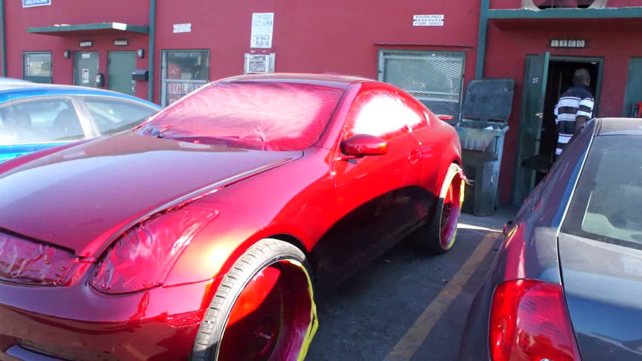 Toby S Custom Candy Red Infiniti G35 Fresh Out The Booth
