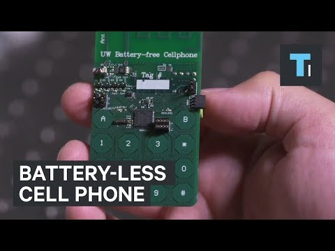 This cell phone doesn't have a battery and never needs to be charged