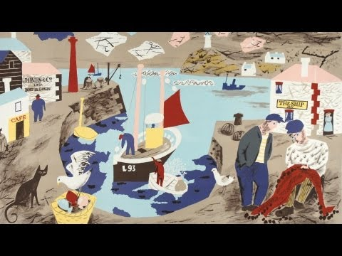 """Harbour"" by Julian Travelyan part of the School Prints series"