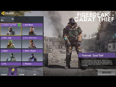 Firebreak Carat Thief W Backpack Call Of Duty Mobile Youtube