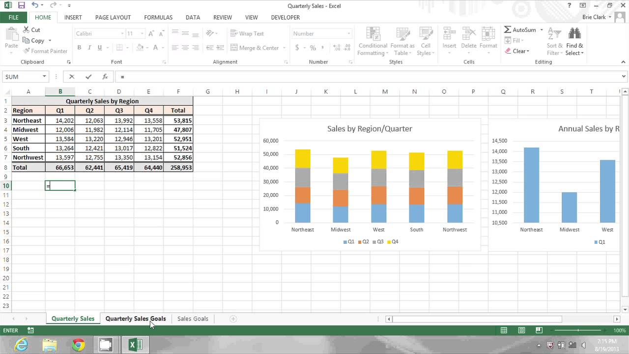 how do i add information on excel worksheets to a summary