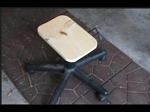 Make a free shop stool using parts from an old office chair