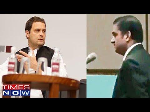 Rahul Gandhi's Heated Exchange In Singapore With PK Basu - Full Video