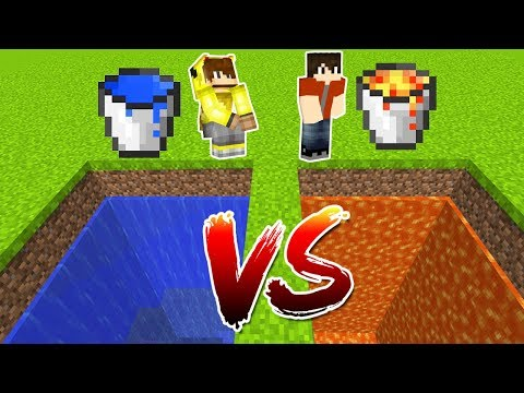 LAV ÇUKURU VS SU ÇUKURU! 😱 - Minecraft