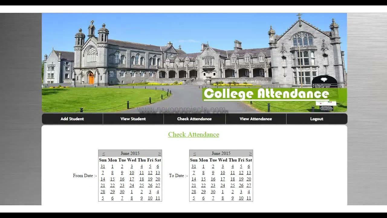 Student Attendance System by Barcode Scan
