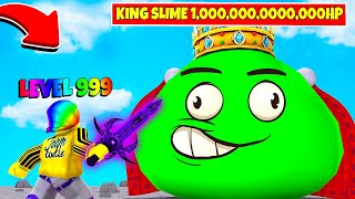 I became the BEST PLAYER to fight the MEGA KING SLIME (Roblox)