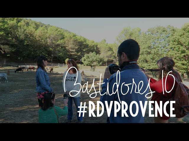 Bastidores do vídeo do ravióli de queijo de cabra do #RDVPROVENCE