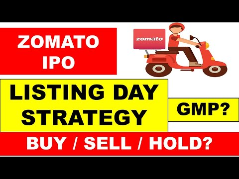 ZOMATO IPO LISTING DAY STRATEGY | BUY/SELL/HOLD | ZOMATO IPO GMP | ZOMATO IPO NEWS | ZOMATO LISTING