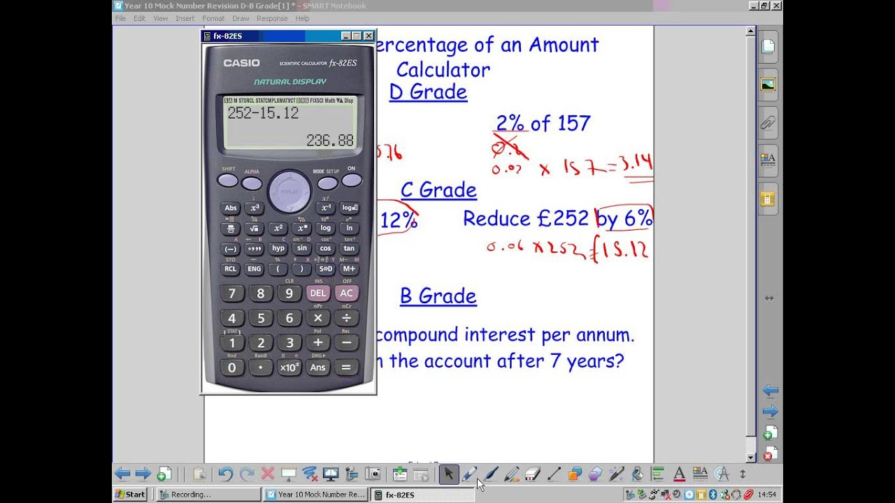 Finding percentage of an amount.