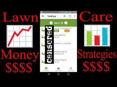Lawn Care Business Money Making Strategies | (How To Use Task Easy App)