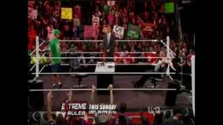 WWE Raw Review 4/23/12 Results John Cena And Brock Lesnar Sign Contract/Edge Returns/CM Punk Drinks