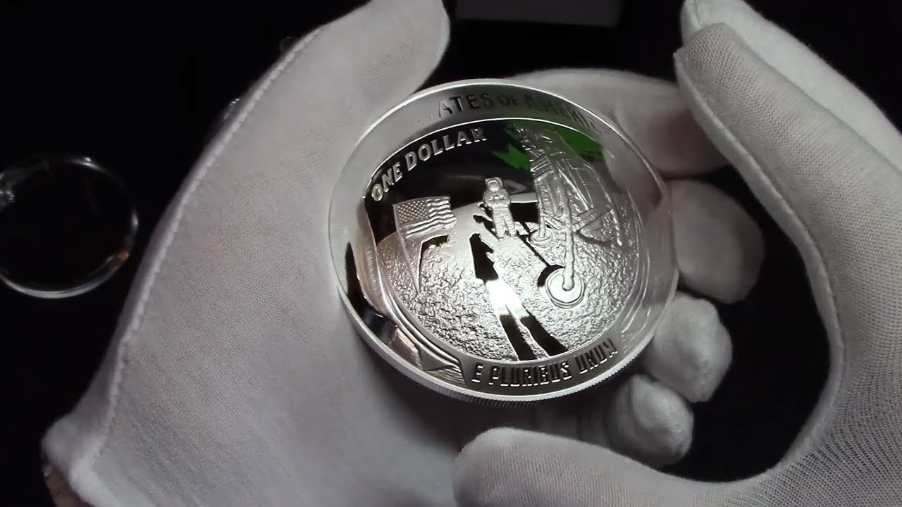2019 Apollo 11 50th Anniversary 2019 Five Ounce Proof Silver Dollar Coin 5oz