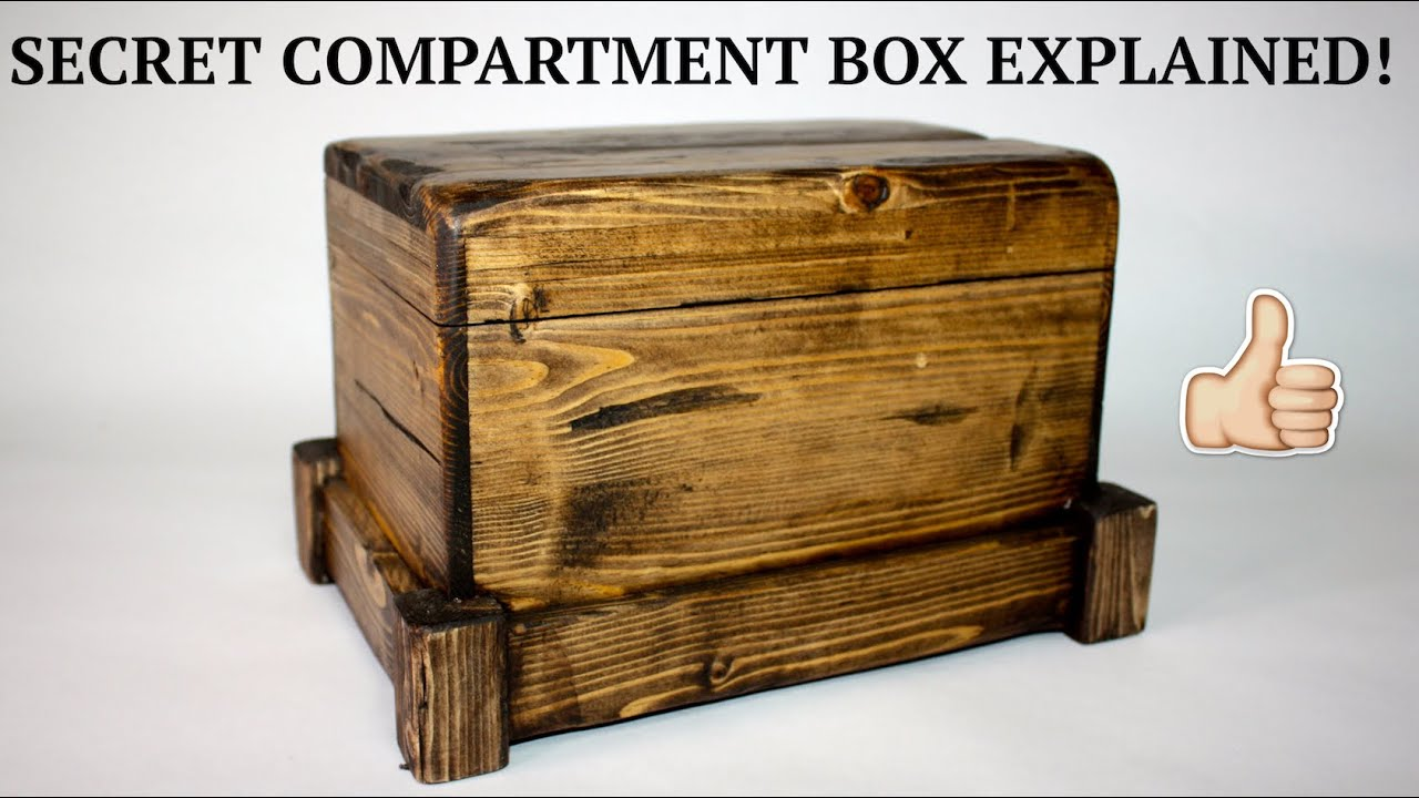 How To Secret Compartment Box Ii Youtube