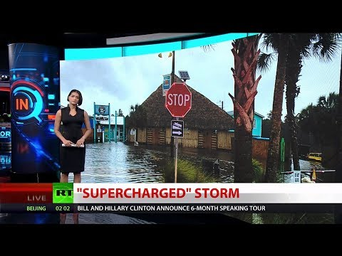 """Supercharged"" Storm Hits Florida Coast"