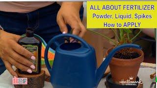 All About PLANT FERTILIZER Food 🍀 Indoor/Outdoor Plants🍀 How Apply Powder, Liquid \u0026 Spike Fertilizer