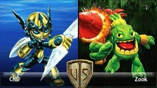 Wunschduell | Legendary Lightcore Chill vs Zook Skylanders Giants Duellkampf