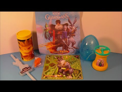2012 RISE OF THE GUARDIANS SET OF 4 HARDEE'S COOL KID'S MOVIE TOY'S VIDEO REVIEW