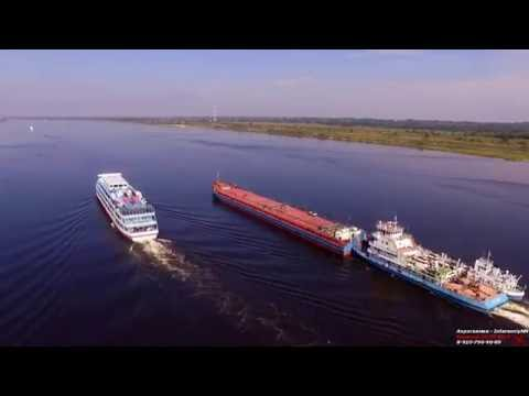 Балахна - Аэросъемка (Нижегородская область) 08.2016 Full-hd
