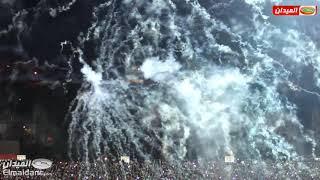 جانب من أجواء ملعب الشهيد حملاوي قبل وبعد لقاء النادي الرياضي القسنطيني وتي بي مازيمبي