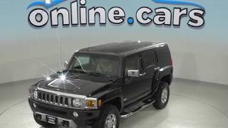 G98896NC Used 2008 Hummer H3 Luxury 4WD Black Test Drive, Review, For Sale