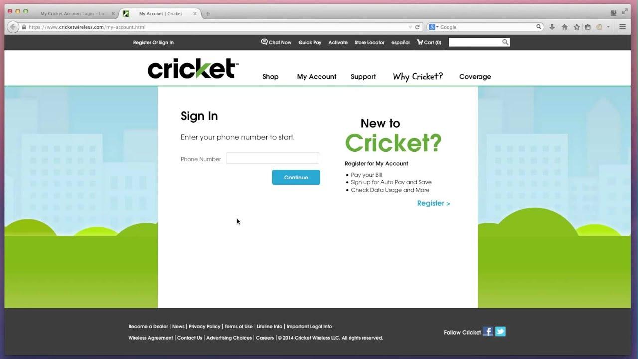 Cricketwireless MyCricket Wireless Login and Payment