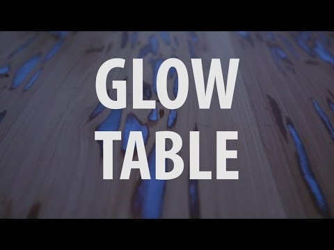 This Glow-In-The-Dark Table Will Light Up Your Dining Room