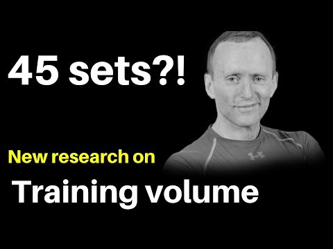 45 Sets per week?! New Study on Training volume (Proof that low volume people are stupid? )