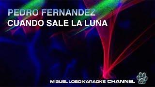 PEDRO FERNANDEZ - CUANDO SALE LA LUNA - [Karaoke] Miguel Lobo
