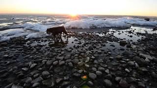 Lake Winnipeg Ice Cracking