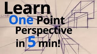 LEARN ONE POINT PERSPECTIVE IN 5 MIN!