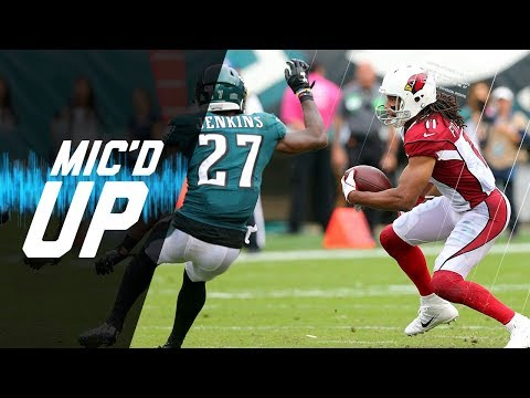 "Malcolm Jenkins Mic'd Up vs. Cardinals "" Tell Them to Throw That Over Here Larry!"" 