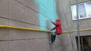 Покраска и ремонт фасада промышленными альпинистами в Алматы(Ремонт и покраска фасадов зданий от 350 тг/м2 в Алматы ТОО