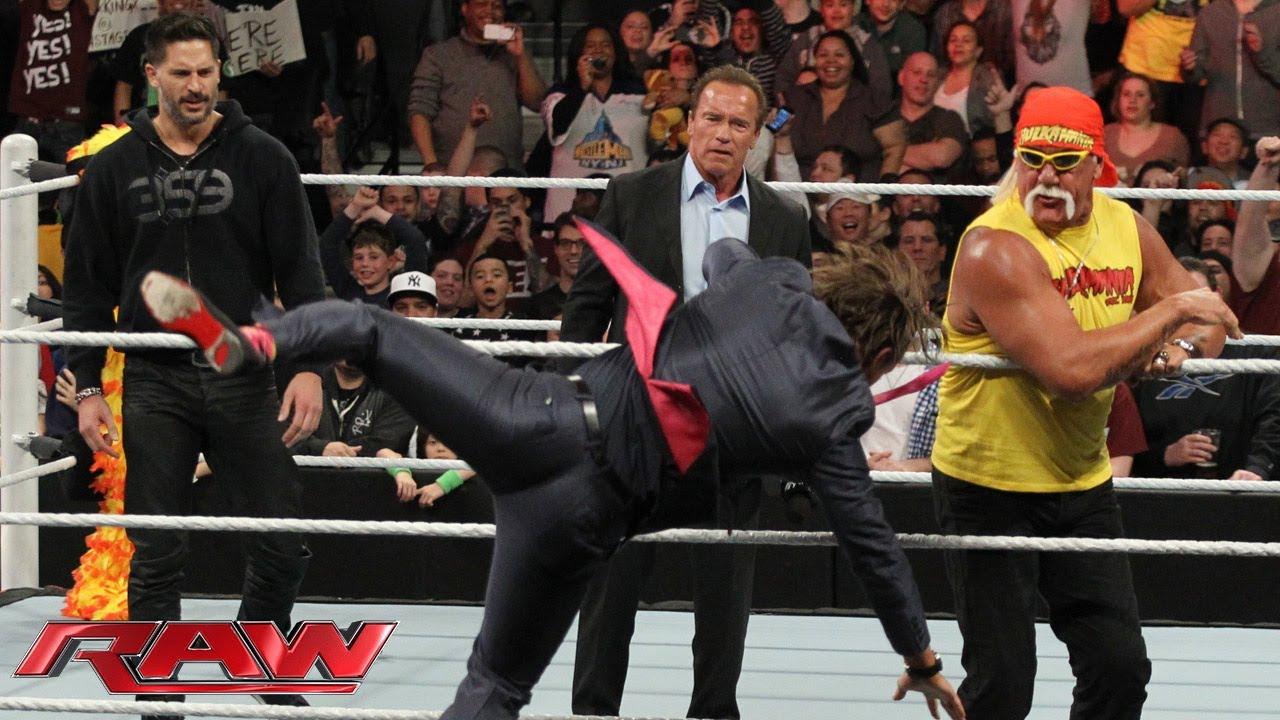 Arnold Schwarzenegger And Joe Manganiello Join Hulk Hogan In The