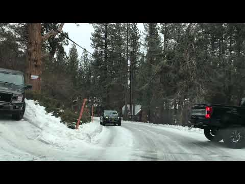 Road conditions update. 12/31/18. Big Bear Lake getting hit with bitter temps and snow flurries