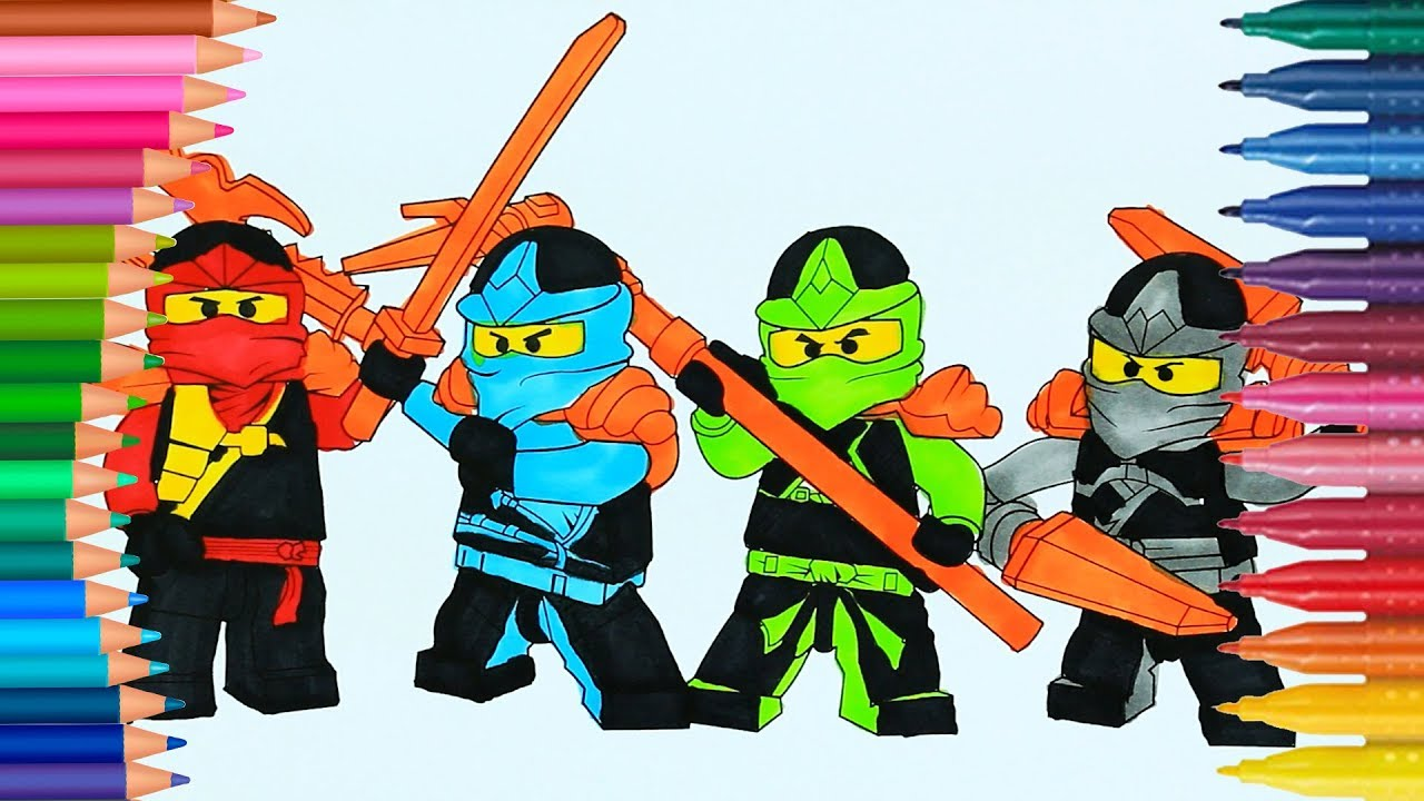 Lego Ninjago | How to draw and color | Coloring Page | Little Hands ...
