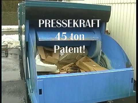 Compactor Shark Containers A/S presse container for cardbord.