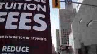 Ottawa Student Protest to Reduce Tuition Fees2