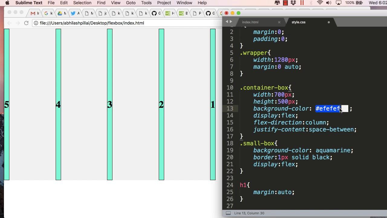 FlexBox Tutorial : Part 1 - Positioning Div's inside Parent Container Using  CSS Flex
