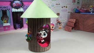 Easy Diy Custom Lps Doll Accessories: How To Make A Tiny Tree House