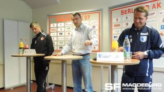 Pressekonferenz - Berliner AK 07 gegen 1. FC Magdeburg 1:1 (1:1) - www.sportfotos-md.de