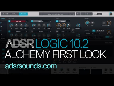 Logic Pro X 10 2 Update - Alchemy Synth First Look