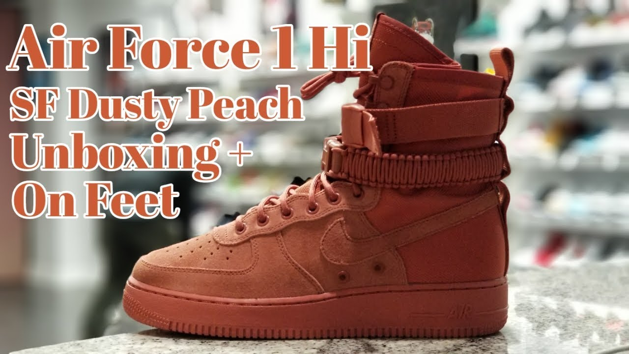 pretty nice 75571 50c35 SF AIR FORCE 1 DUSTY PEACH UNBOXING AND ON FEET