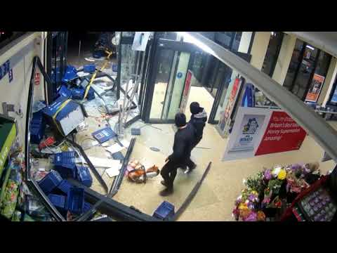 Dramatic CCTV shows ram raid on Aldi in Chatteris