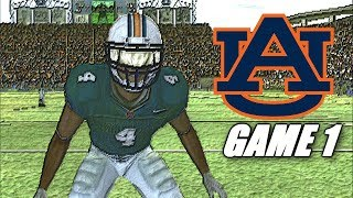 THE ROAD TO AN UNDEFEATED CHAMIONSHIP SEASON STARTS - NCAA 05 AUBURN TIGERS GAME 1