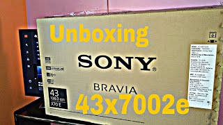 Unboxing and review sony bravia kD_43x7002e 4k hdr tv in hindi