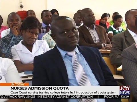 Nurses Admission Quota - Joy News Today (15-8-17)