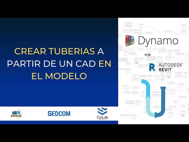 Creación de Tuberias en Revit usando CAD con Dynamo | Demostración