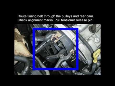 hyundai getz wiring diagram detailed plant cell ef 2.7 v6 replace timing belt water pump pulleys - youtube